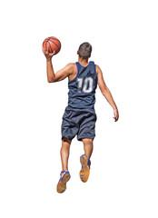 basketball player on white
