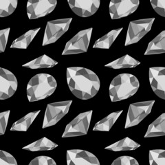 Vector fashion diamond seamless background