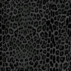 seamless black leopard print.