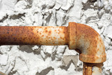 Rusty outside gas pipe