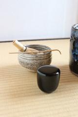 抹茶茶碗と棗