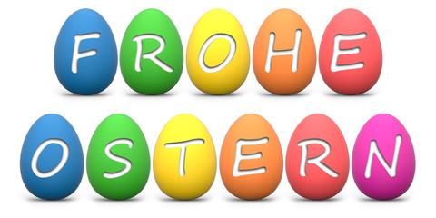 Frohe Ostern bunte Eier