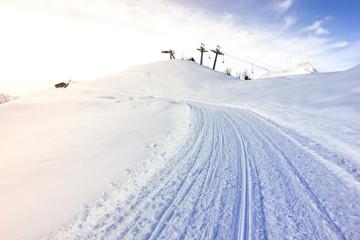 Pista da sci e seggiovia