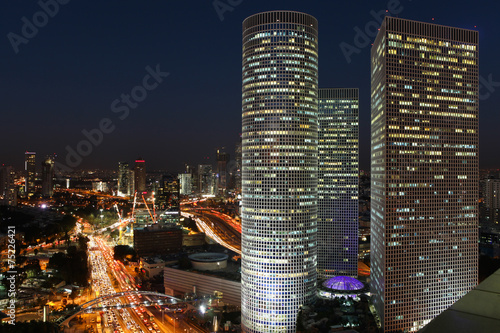 Fotobehang Midden Oosten Tel Aviv skyline at night