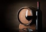 Wine near barrel - 75227808