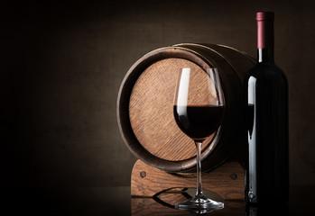 Wine near barrel