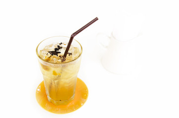 Iced tea with isolate background