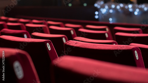 Fotobehang Stad gebouw Empty Theater Chairs