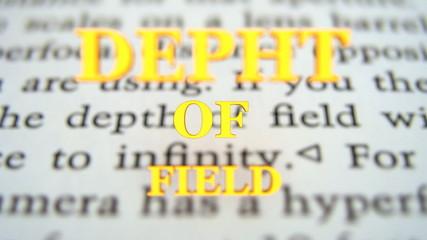 depht of field - explanation