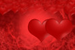 Red hearts all for love