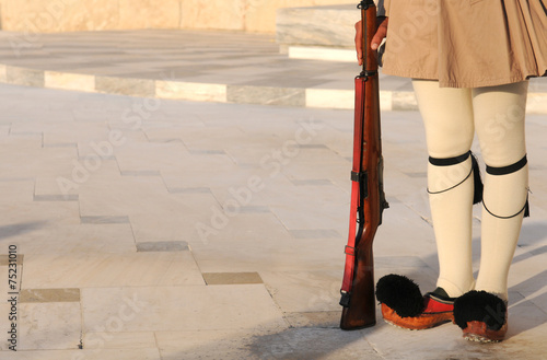 Staande foto Athene Evzon Soldier, Athens, Greece