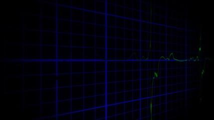 EKG true to life green blue 3D shadow loopable