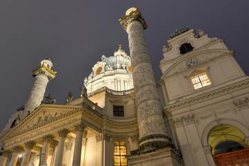 Karlskirche, Vienna at night