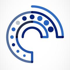 Abstract tech vector logo design template. Vector illustration