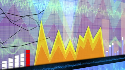 Business Charts and Graphs Background