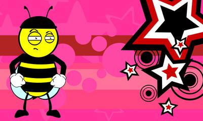 bee cartoon background2