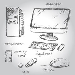 Hand drawn computer and devises
