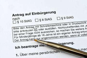 Einbürgerungsantrag, Staatsangehörigkeit, Volk, Naturalisation