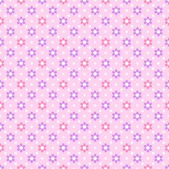 Vector Background #Flower Dot Pattern, Pink