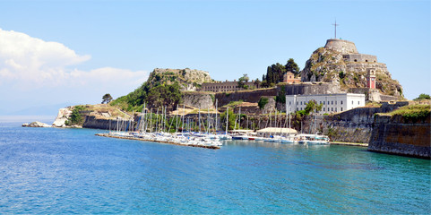 fort in the town of Corfu, Greece, Europe