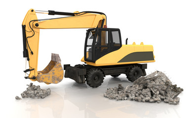 Mechanical Shovel Excavator - Shot 1