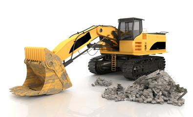 Mechanical Shovel Excavator - Shot 3
