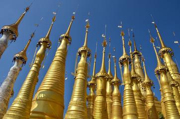 Myanmar, Inle Lake – Accumulation of Stupas in Indein