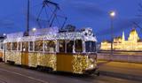 Light tram in Budapest