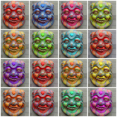 multicolor chinese mask collection