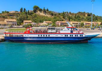 Passenger ferry amazing blue sea