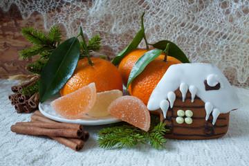 Mandarin jelly candy gingerbread