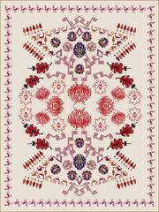 Ethnic Floral Carpet Design