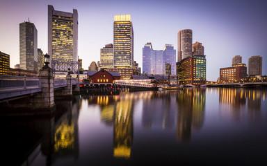 Boston in Massachusetts, USA at Sunset