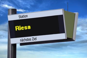 Anzeigetafel 6 - Riesa