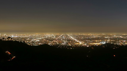 Los Angeles Night Time Lapse with Zoom