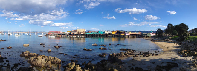 Panoramic View of Monterey Bay, California
