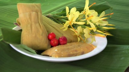 Tamal,Tamales,Tamale a traditional Latin American plate