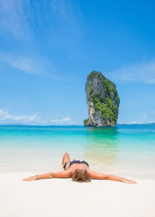Woman on the beach in Thailand