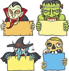 halloween monsters greetings