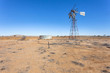 Windmill on abandoned farm in outback Australia.