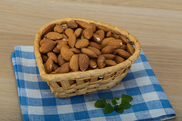 Almond in the bowl