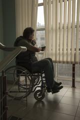 Man on wheelchair
