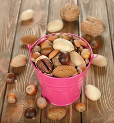 Nuts in a bucket