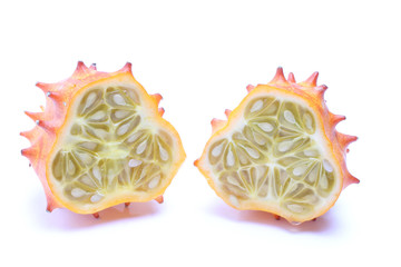 kiwano cut in half