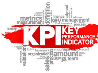 Key Performance Indicator word collage, KPI Business Concept