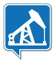 Logo puits. Pétrole.