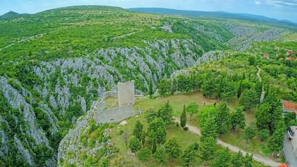 Drnis -  Gradina fortress aerial shot