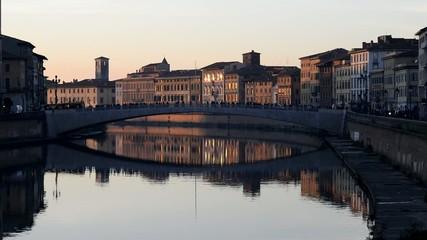 Ponte di Mezzo, Fiume Arno, Pisa