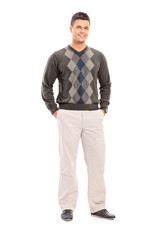 Full length portrait of a fashionable young male model