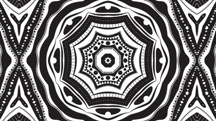 Black and White Kaleidoscope Video Loop